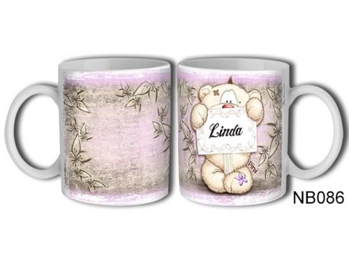 (NB086) Bögre 3 dl - Linda – Névre Szóló Ajándék – Névnapi ajándékok
