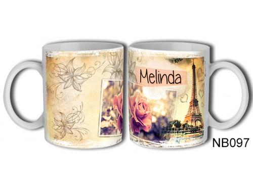 (NB097) Bögre 3 dl - Melinda – Névre Szóló Ajándék – Névnapia ajándékok