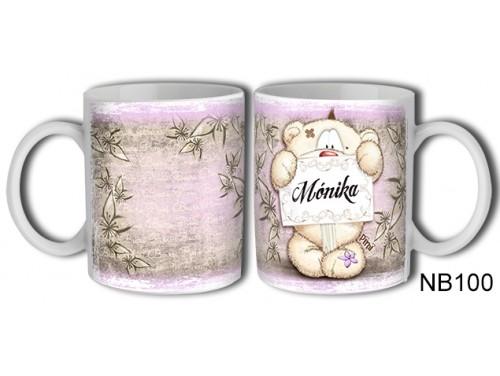(NB100) Bögre 3 dl - Mónika – Névre Szóló Ajándék – Névnapi ajándékok