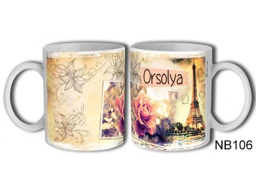 (NB106) Bögre 3 dl - Orsolya – Névre Szóló Ajándék – Névnapi ajándékok