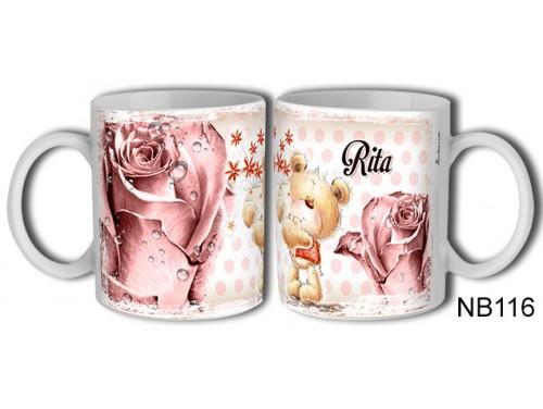 (NB116) Bögre 3 dl - Rita – Névre Szóló Ajándék – Névnapi ajándékok