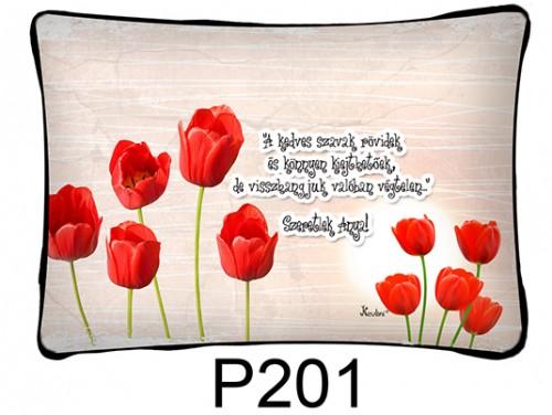 (P201) Párna 37 cm x 27 cm - A kedves szavak - Ajándék anyukáknak - Anyák Napi Ajándékok