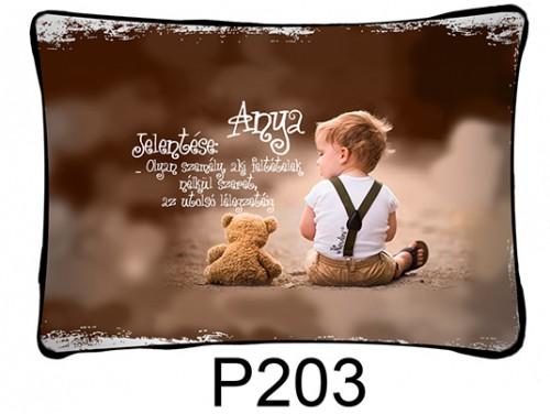 (P203) Párna 37 cm x 27 cm - Anya jelentése - Ajándék anyukáknak - Anyák Napi Ajándékok