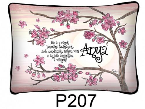 (P207) Párna 37 cm x 27 cm -  Ha a virágok - Ajándék anyukáknak - Anyák Napi Ajándékok