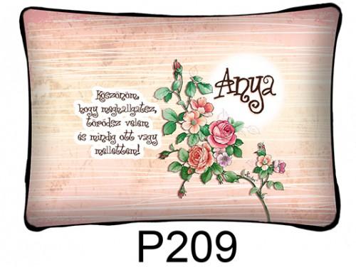 (P209) Párna 37 cm x 27 cm - Köszönöm, hogy meghallgatsz - Ajándék anyukáknak - Anyák Napi Ajándékok