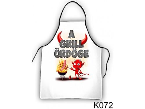 (K072) Kötény 50 cm x 70 cm - A grill ördöge – Grill Party Kellékek
