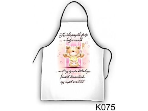 (K075) Kötény 50 cm x 70 cm - Az édesanyák főztje – Ajándék Anyáknak - Anyák Napi Ajándékok