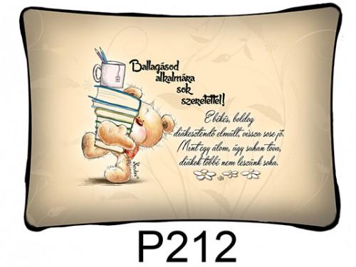 (P212) Párna 37 cm x 27 cm - E békés, boldog diákesztendő - Ballagási Ajándékok