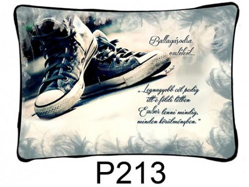(P213) Párna 37 cm x 27 cm - Legnagyobb cél - Ballagási Ajándékok
