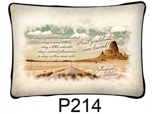 (P214) Párna 37 cm x 27 cm - Amit gondolunk, azzá leszünk - Ballagási Ajándékok