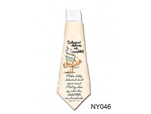 (NY046) Nyakkendő 37 cm x 13 cm - E békés, boldog diákesztendő - Ballagási Ajándékok