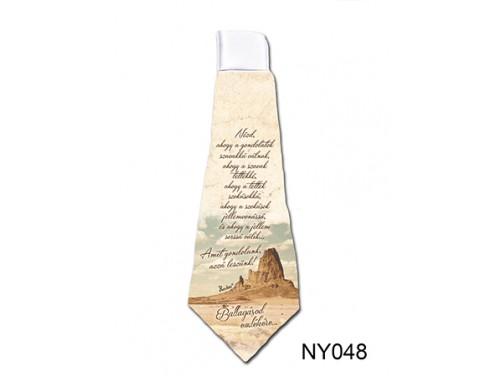 (NY048) Nyakkendő 37 cm x 13 cm - Amit gondolunk, azzá leszünk - Ballagási Ajándékok