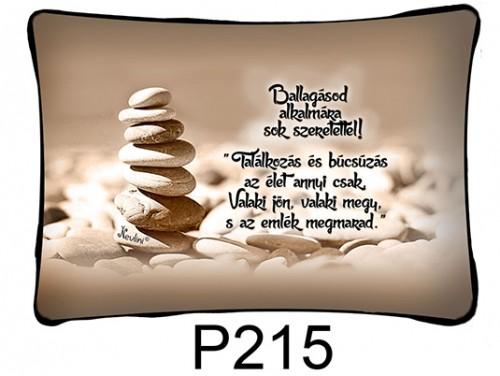 (P215) Párna 37 cm x 27 cm - Találkozás és búcsúzás - Ballagási Ajándékok
