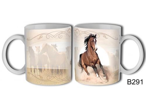 (B291) Bögre 3 dl - Futó barna ló - Lovas ajándékok