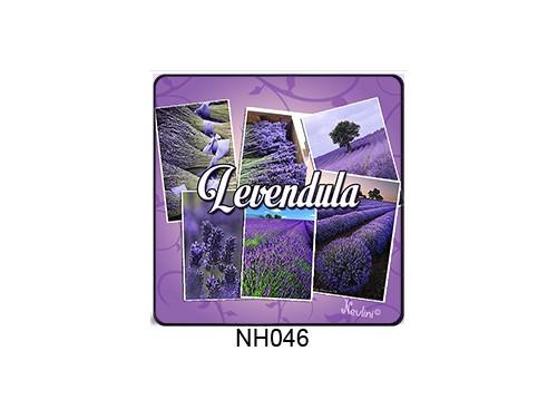 (NH046) Hűtőmágnes 7,5 cm x 7,5 cm - Levendula - Levendulás ajándékok