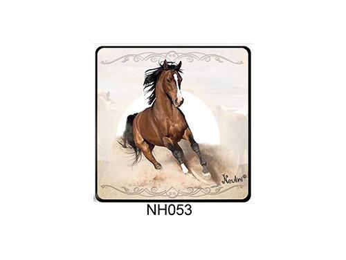 (NH053) Hűtőmágnes 7,5 cm x 7,5 cm - Futó ló - Lovas ajándékok
