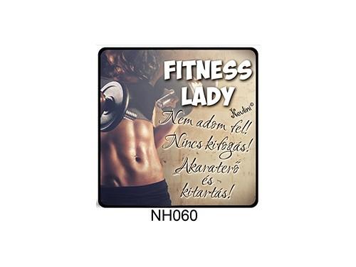 (NH060) Hűtőmágnes 7,5 cm x 7,5 cm - Fitness Lady - Fitness Ajándék Ötletek