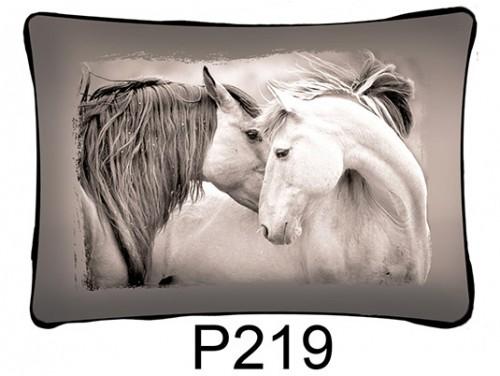 (P219) Párna 37 cm x 27 cm - Ló pár fej - Lovas ajándékok