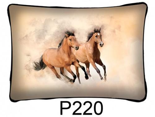 (P220) Párna 37 cm x 27 cm - Ló pár futó - Lovas ajándékok