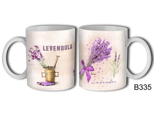 (B335) Bögre 3 dl - Lavender csokor- Levendulás ajándékok