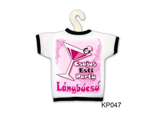 (KP047) Üvegpóló 13 cm x 18 cm - Lánybúcsú Csajos esti party - Lánybúcsús Ajándékok