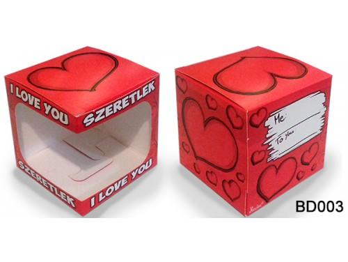 (BD003) Bögre doboz - I LOVE YOU – Díszdoboz