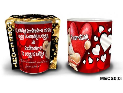 (MECS003) Mécsestartó 7 cm x 8,5 cm - Mécsestartó - A világ számára – Szerelmes Ajándékok