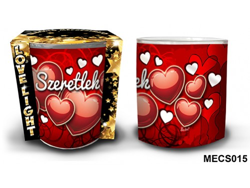 (MECS015) Mécsestartó 7 cm x 8,5 cm - Szeretlek – Szerelmes Ajándékok