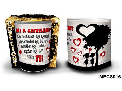 (MECS016) Mécsestartó 7 cm x 8,5 cm - Mi a szerelem? – Szerelmes Ajándékok