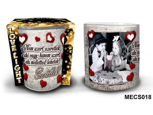 (MECS018) Mécsestartó 7 cm x 8,5 cm - Nem azért szeretlek – Szerelmes Ajándékok