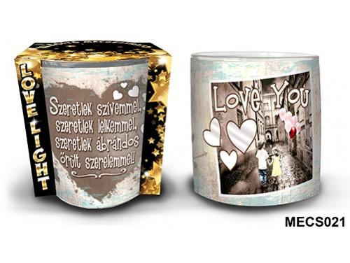 (MECS021) Mécsestartó 7 cm x 8,5 cm - Szeretlek szívemmel... – Szerelmes Ajándékok