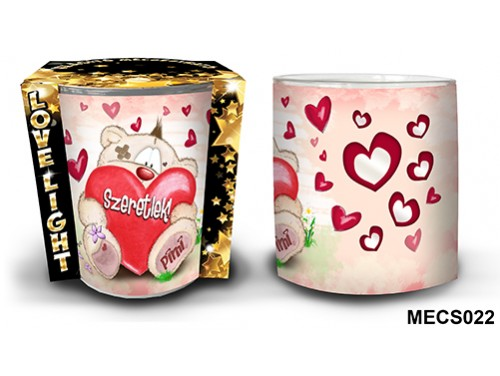 (MECS022) Mécsestartó 7 cm x 8,5 cm - Szeretlek Ülő Pimi – Szerelmes Ajándékok