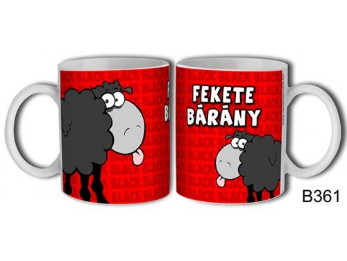 (B361) Bögre 3 dl - Fekete Bárány - Vicces Ajándékok