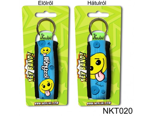(NKT020) Kulcstartó 10 cm x 3,8 cm - Hiányzol kék - Szerelmes Ajándékok