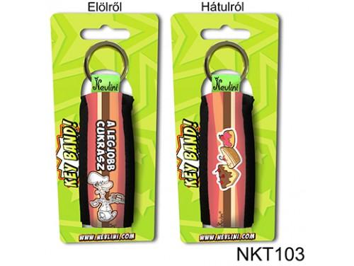 (NKT103) Kulcstartó 10 cm x 3,8 cm - A legjobb cukrász - Ajándékok Cukrászoknak