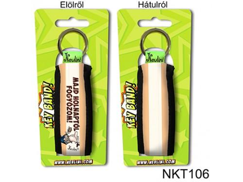 (NKT106) Kulcstartó 10 cm x 3,8 cm - Majd holnaptól fogyózom - Ajándék Fogyókúrázóknak