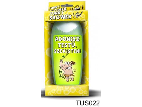 (TUS022) Tusfürdő 300 ml - Adonisz testű, szexisten! - Ajándék férfiaknak - Vicces ajándékok