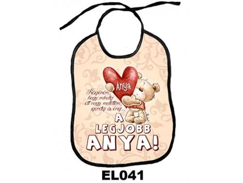 (EL041) Előke 26 cm x 32,5 cm - A legjobb anya - Ajándék Anyáknak
