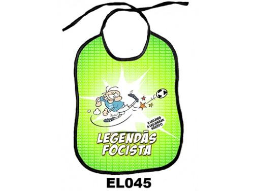 (EL045) Előke 26 cm x 32,5 cm - Legendás focista – Vicces Ajándék