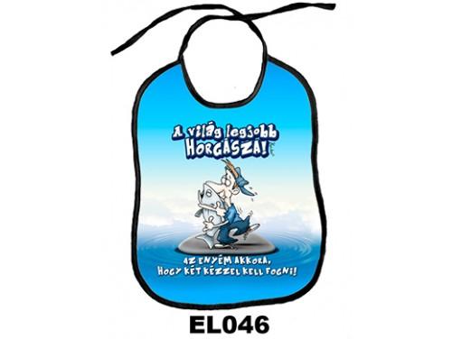 (EL046) Előke 26 cm x 32,5 cm - A világ legjobb horgásza! – Vicces Ajándék