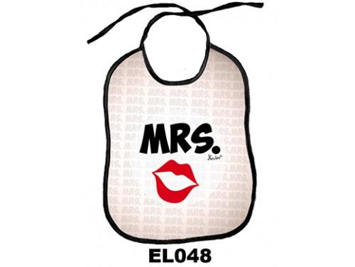 (EL048) Előke 26 cm x 32,5 cm - MRS. – Vicces Ajándék