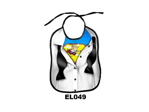 (EL049) Előke 26 cm x 32,5 cm - Szupermen – Vicces Ajándék