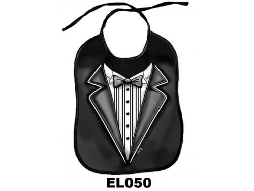 (EL050) Előke 26 cm x 32,5 cm - Öltöny – Vicces Ajándék