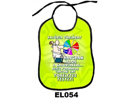 (EL054) Előke 26 cm x 32,5 cm - Kalória táblázat – Vicces Ajándék