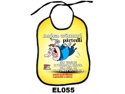 (EL055) Előke 26 cm x 32,5 cm - Kalória csökkentő – Vicces Ajándék