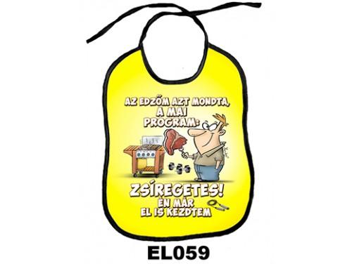 (EL059) Előke 26 cm x 32,5 cm - Zsírégetés – Vicces Ajándék