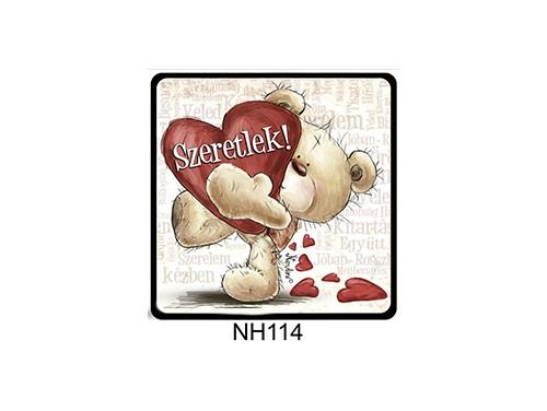 (NH114) Hűtőmágnes 7,5 cm x 7,5 cm - Szeretlek szavakkal - Szerelmes Ajándékok