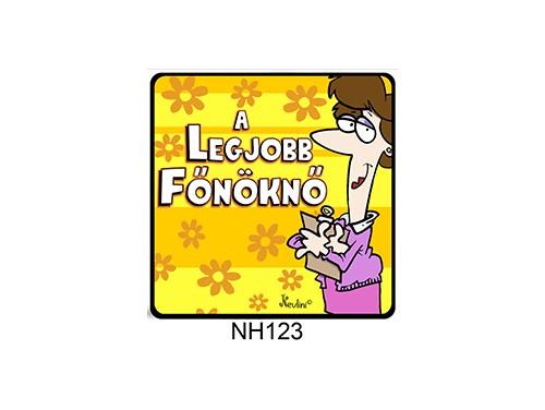 (NH123) Hűtőmágnes 7,5 cm x 7,5 cm - A legjobb főnöknő - Főnökasszonynak ajándék