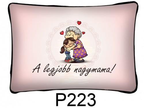(P223) Párna 37 cm x 27 cm - A legjobb nagymama - Ajándék Nagymamának