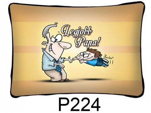 (P224) Párna 37 cm x 27 cm - Legjobb Papa - Ajándékok Nagypapáknak